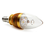 E14 3 W 3 High Power LED 270 LM Warm White BA Decorative Candle Bulbs AC 85-265 V