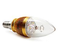 Bombillas Vela Decorativa BA E14 3 W 3 LED de Alta Potencia 270 LM 3000K K Blanco Cálido AC 85-265 V