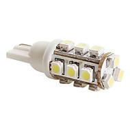 t10 3528 SMD 15 led 40mA 0.48W lampadina bianca per auto (12V dc)-coppia