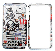 Cartoon Pattern Bumper and Case for iPhone 4 and 4S (Black and White)