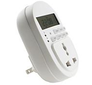 Reino Unido 2-pin conector de ahorro de energía eléctrica del temporizador (220v 10a)