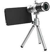 12x Telephoto Thread Lens with Back Case and Tripod for iPhone 4 and 4S