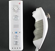 Mini Remote y Nunchuk del controlador de Wii / Wii U (blanco)