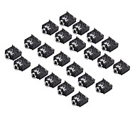 3F07 3.5mm Audio Jack Socket (Black, 20 Pieces a pack)