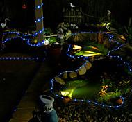 100 LED Blue Solar Tube Outdoor Lights Garden Yard Decor