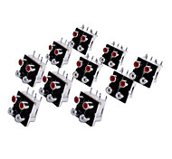 AV4-10 RCA Jack Socket for Electronics DIY Use (10 Pieces a Pack)