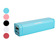 2600mAh station portable d'alimentation externe pour iPhone, iPad, sumsang, HTC, Nokia, PSP, NDS, etc
