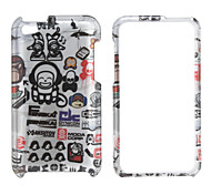 Cartoon Pattern Protective Back Case and Bumper Frame for iPod Touch 4
