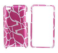 le style des lignes arrière du boîtier de protection et le cadre de pare-chocs pour iPod touch 4 (rose)