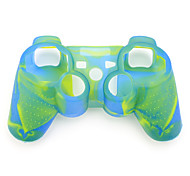 Protective Dual-Color Silicone Case for PS3 Controller (Blue and Green)