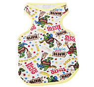 Cartoon Monster Style Vest for Dogs (XS-XL, Yellow)