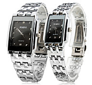 Pair of Alloy Analog Quartz Couple's Watches (Silver) Cool Watches Unique Watches