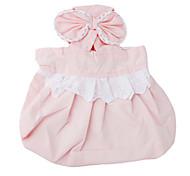 Горничная стиль ситцевое платье для собак (XS-XL, розовый)