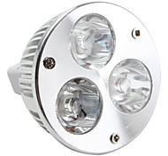 Focos MR16 3 W 3 LED de Alta Potencia 270 LM 6000-6500 K Blanco Natural DC 12 V