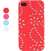 rhinestone caso fiorellino per iPhone 4 e (colori assortiti) 4s