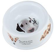 cachorro de perro pequeño recipiente (14 x 14 cm, blanco)