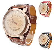 Women's Watch Fashion Big Dial PU Band Cool Watches Unique Watches