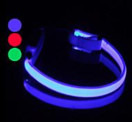 Coleira de Cão com Luz LED Ajustável (25 - 35 cm)