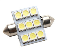 high-performance 36 mm 9 * 5050 SMD witte led auto signaallamp