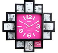 relógio de parede com design de moda função Picture Frame
