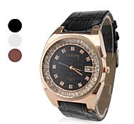 Women's Stylish Diamond Style PU Leather Analog Quartz Wrist Watch (Assorted Colors)