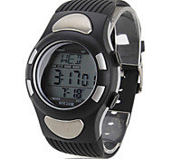 Men's Multi-Functional Style Rubber Digital Automatic Wrist Watch with Heart Rate Monitor (Black) Cool Watch Unique Watch Fashion Watch