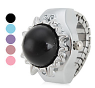 en forma de sol de las mujeres de aleación de estilo de reloj de cuarzo analógico del anillo (colores surtidos)