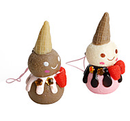 Snowman Ice Cream Keychain (Random Colors)