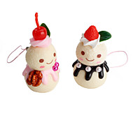 Snowman Shaped Keychain (Random Colors)