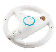 Racing Steering Wheel for Wii/Wii U Controller with MotionPlus (White)