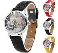 торговый женщин часа дизайн пу аналоговые кварцевые наручные часы (разных цветов)
