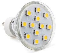 3W GU10 Spot LED MR16 12 SMD 5050 150 lm Blanc Chaud AC 100-240 V
