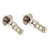 H1 9*5050 SMD White LED Car Signal Lights (2-Pack, DC 12V)