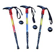 4-Section Adjustable 110CM Length Aluminum Alloy Hiking Trekking Stick