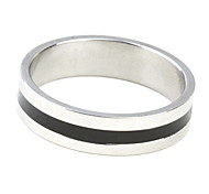 Eruner®Unisex Black Stripes Titanium Steel Ring Jewelry