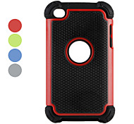 doppia in plastica staccabile e custodia in silicone per iPod touch 4 (colori assortiti)