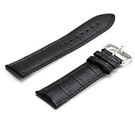 Unisex Genuine Leather Watch Strap 24MM(Black)