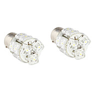 1156 13-LED White Light Bulb for Car Brake/Turning Signal Lamps (2-Pack, DC 12V)