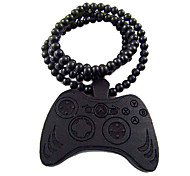 Gamepad Pattern Wooden Necklace