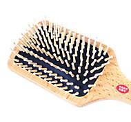 Anti-estático pente de massagem de madeira Almofada