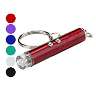 2-in-1 Mini 2-Mode White Light Flashlight Keychain and 5mW Red Laser (3xLR41)