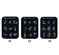 Flower Pattern Nail Art Stamping Image Template Plate