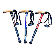 4-Section Adjustable 110CM Length Aluminum Alloy Camping Hiking Trekking Stick