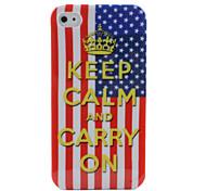 usa flag garder son calme et continuer sur la conception pour iPhone 4 et 4s (multi-couleur)