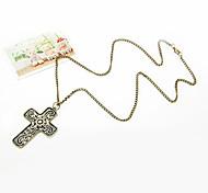 Fashion Retro Cross Long Necklace