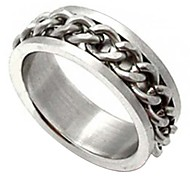 Unisex Metal Chains Titanium Steel Ring