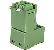 2-Pin Curved Screw Terminal Block Connectors-Green (20-Piece Pack)
