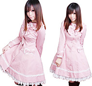 Long Sleeve Pink Cotton Sweet Lolita Coat with Bow