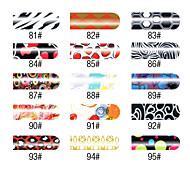 16 PCS Nail Foil Art Frank Girl Full Cover Stickers Manicure