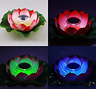 Solar Powered Farbwechsel Schwimmende Lotus Flower Garden Pool Night Lamp